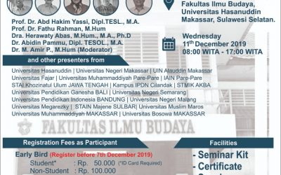 The 4th Annual Seminar on English Language Studies (ASELS) 2019